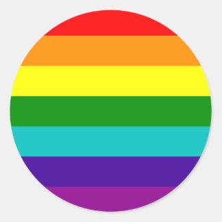 7 Streifen-Regenbogen-Gay Pride-Flaggen-Aufkleber