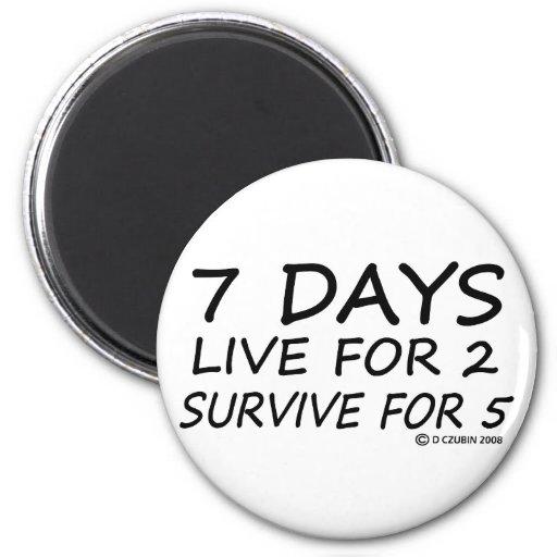 7 Tage Kühlschrankmagnet