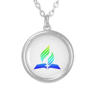 7. Tagesadventist-Symbol Versilberte Kette