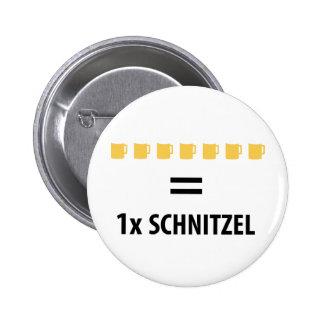 7 Totenbahre gleich 1 Schnitzel Runder Button 5,7 Cm
