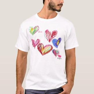 7 Valentinsgruß-Herzen steigen T-Shirt Kleid an