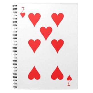 7 von Herzen Notizblock