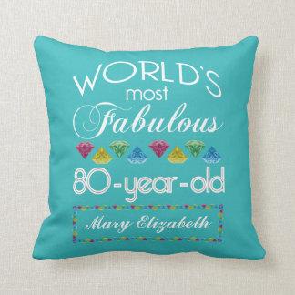 80. Geburtstag der meiste fabelhafte bunte Kissen
