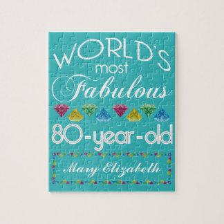 80. Geburtstag der meiste fabelhafte bunte Puzzle