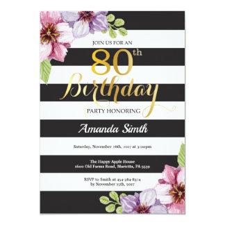 80. Geburtstags-Einladungs-Frauen. Karte