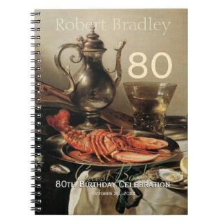 80. Geburtstags-Feier-kundengerechtes Gast-Buch Spiral Notizbücher