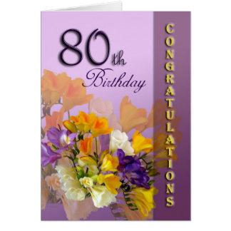 80. Geburtstags-Glückwunsch-Geburtstags-Karte Karte