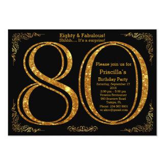 80. Geburtstags-Party, achtzig, großes Gatsby, Karte