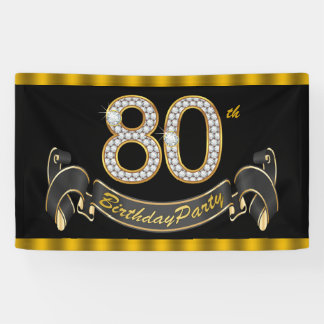 80. Geburtstags-Party Banner