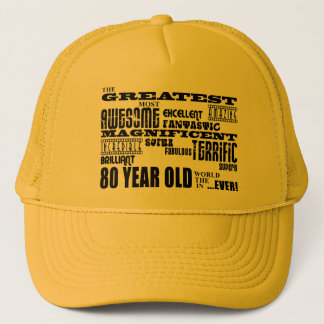 80. Geburtstags-Party-bestste achtzig Jährige Truckerkappe