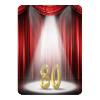 80. Geburtstags-Party 11,4 X 15,9 Cm Einladungskarte