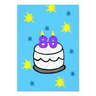 80. Geburtstags-Party Einladung 80 Kerze auf