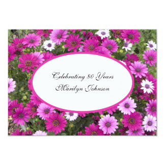 80. Geburtstags-Party Einladungs-herrliches Blumen 12,7 X 17,8 Cm Einladungskarte