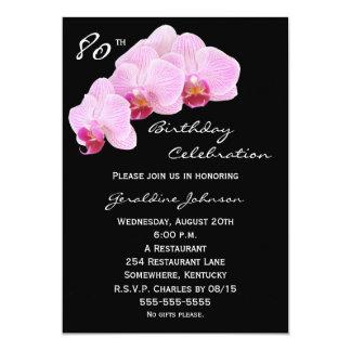 80. Geburtstags-Party Einladungs-Orchideen 12,7 X 17,8 Cm Einladungskarte