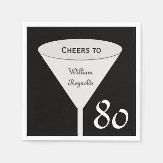 80. Geburtstags-Party-Papierservietten Papierservietten