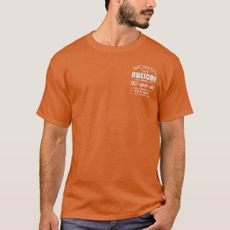 80. Geburtstags-Weltbeste fabelhafte T-Shirt