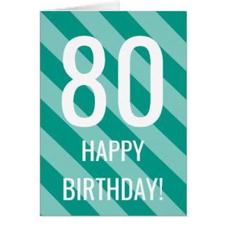80. Geburtstagskarte für 80 Jahre alte Männer oder Grußkarte