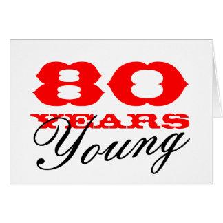 80. Geburtstagskarte für 80 Jahre junge Männer Grußkarte