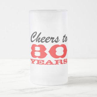 80. Geschenk-Tasse des Geburtstags-Bier-Glas-| für Matte Glastasse