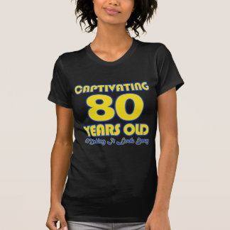 80 JAHRE ALTE GEBURTSTAGS-ENTWURFS- T-Shirt