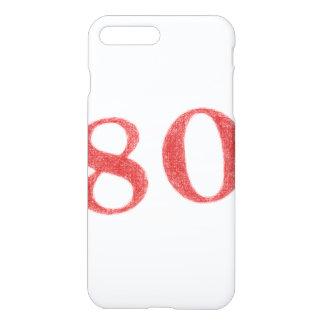 80 Jahre Jahrestag iPhone 8 Plus/7 Plus Hülle