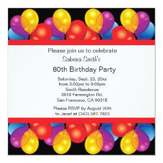 80. Text der Geburtstags-Party-Feier-  DIY Karte