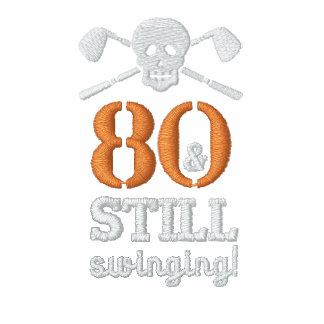 80 u. noch schwingen - Golf-Geburtstags-Shirt Polo Hemd