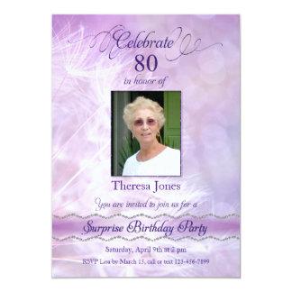 80. Überraschungs-Geburtstags-Party Einladungen 12,7 X 17,8 Cm Einladungskarte