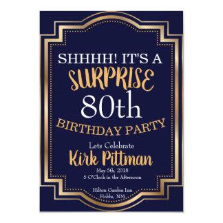 80. Überraschungs-Party Karte