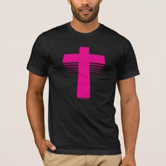 80er Art Techno Kreuz T-Shirt