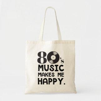 80er Musik macht mich glücklich Tragetasche