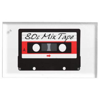80er Musik-Mischungs-Kasette Platzkartenhalter
