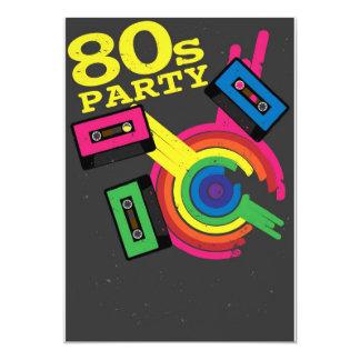 80er-Party 12,7 X 17,8 Cm Einladungskarte