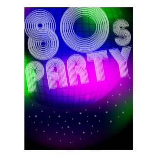 80er Party Postkarte