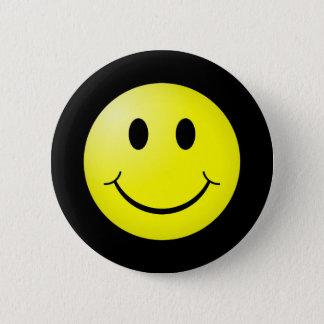 80er Pop-Kultur-Gelb-smileyEmoticon Runder Button 5,1 Cm