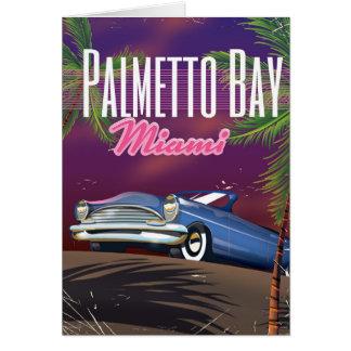 80er-Reiseplakat Palmetto-Bucht-Floridas USA Karte