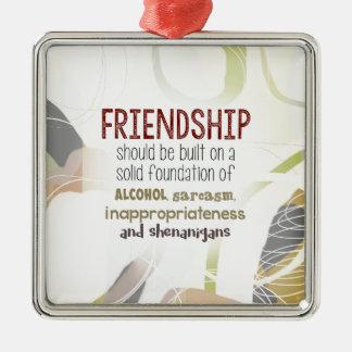 810.friendship-shenanigans silbernes ornament