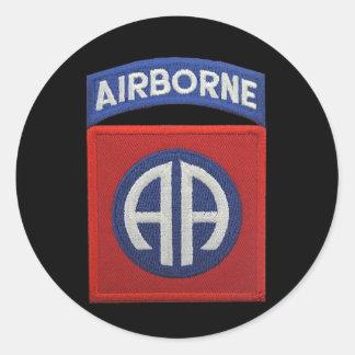82. ABN im Flugzeug Div. Veteranen-Tierärzte LRRP Runder Aufkleber