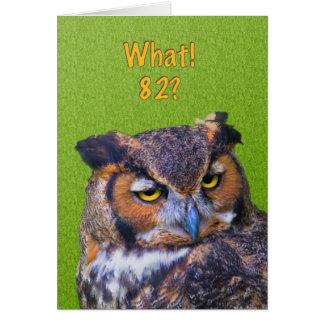 82. Geburtstags-Karte mit Virginia-Uhu Karte