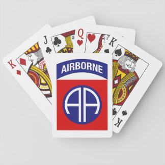 82. im Flugzeug Spielkarten