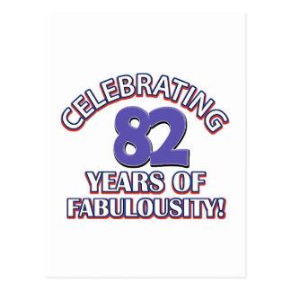 82 Jahre Geburtstagsentwurf Postkarte