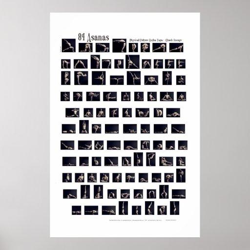 84 Asanas Plakat