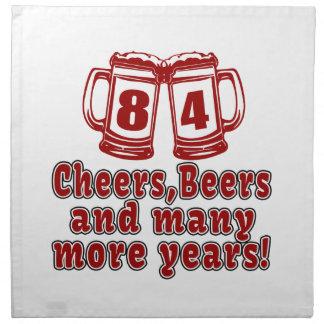 84 Beifall-Bier-Geburtstag Stoffserviette