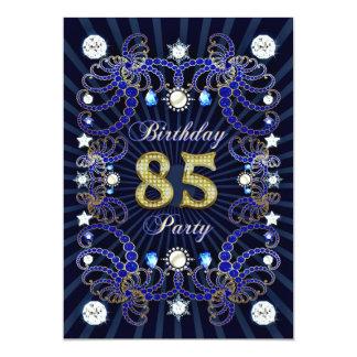 85. Geburtstags-Party laden mit Massen der Juwelen 12,7 X 17,8 Cm Einladungskarte