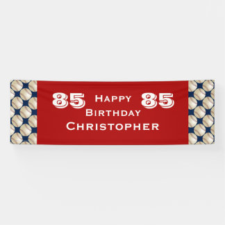 85th Geburtstags-Party-Baseball-Fahne, Banner