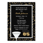 85th Geburtstags-Party Einladung -- 85 und