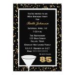 85th Geburtstags-Party Einladung 85 und Confetti