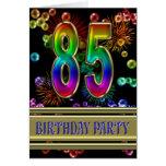85th Geburtstags-Party Einladung Karte
