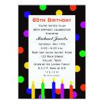85th Geburtstags-Party Einladung -- Kerzen und