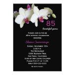 85th Geburtstags-Party Einladung -- Orchideen
